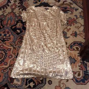 Luxology gold sequin dress size 14